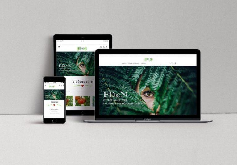 Interface d'un site marchand dans ses 3 versions, ordinateur, tablette, smartphone
