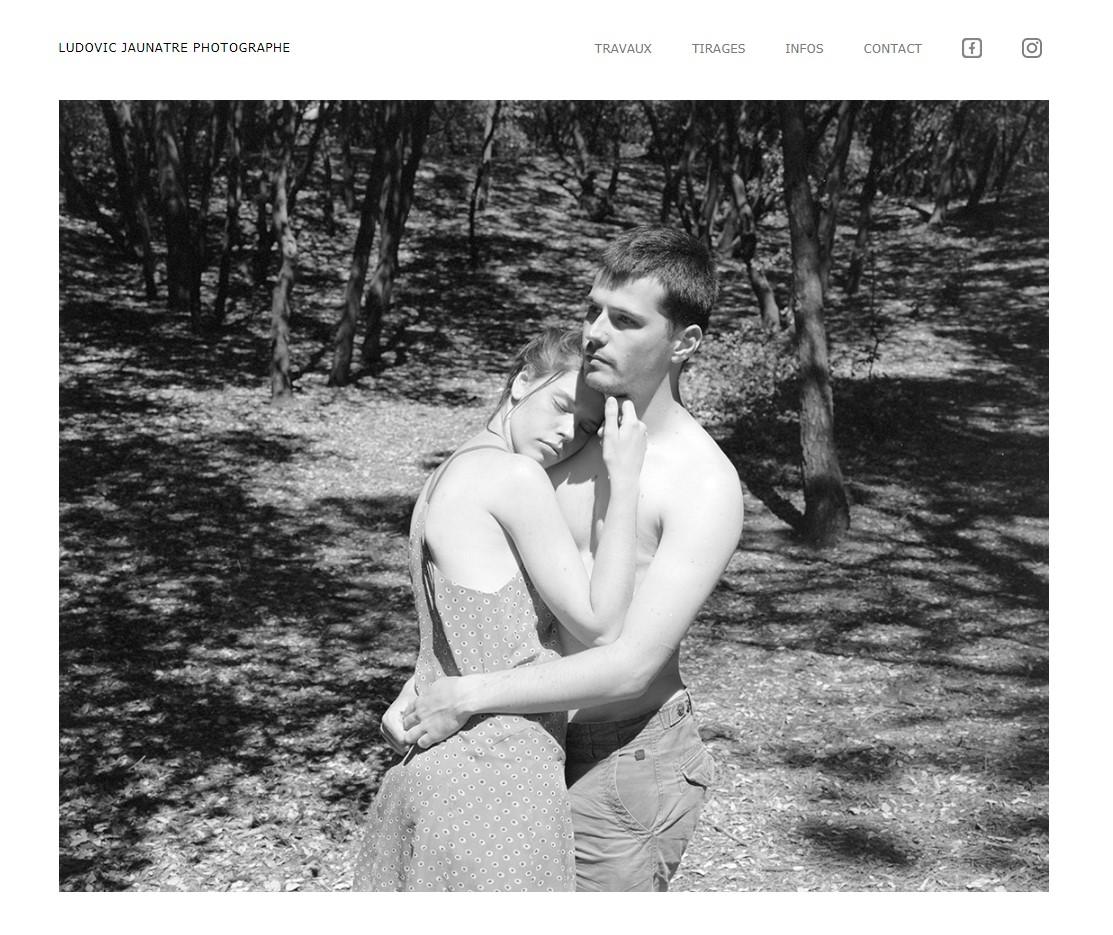 Page d'accueil du site de Ludovic Jaunatre