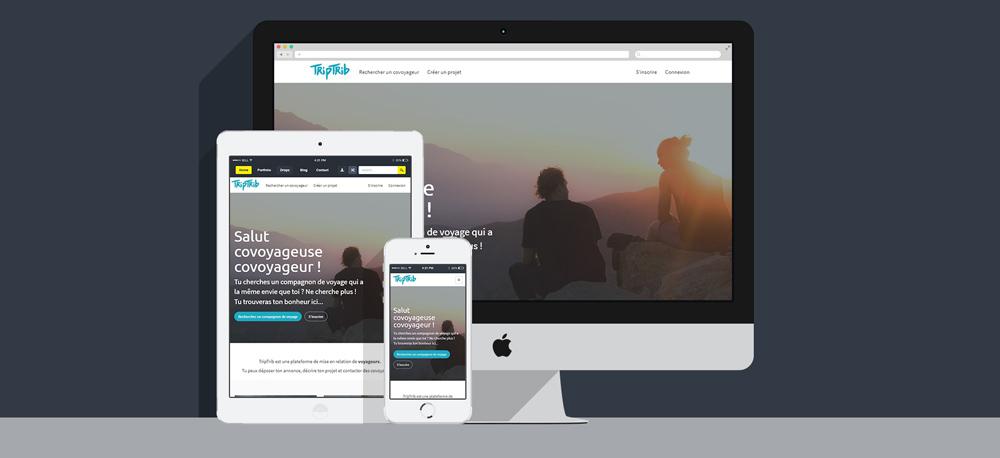 Le site TripTrib adapté à tous les formats d'écran