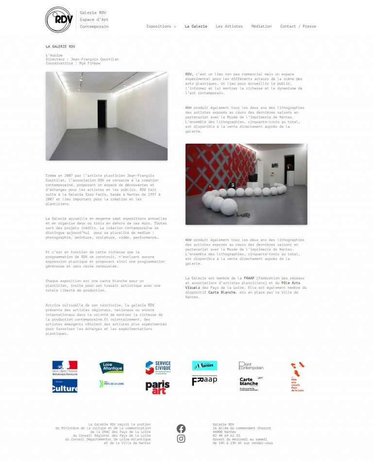 Page galerie