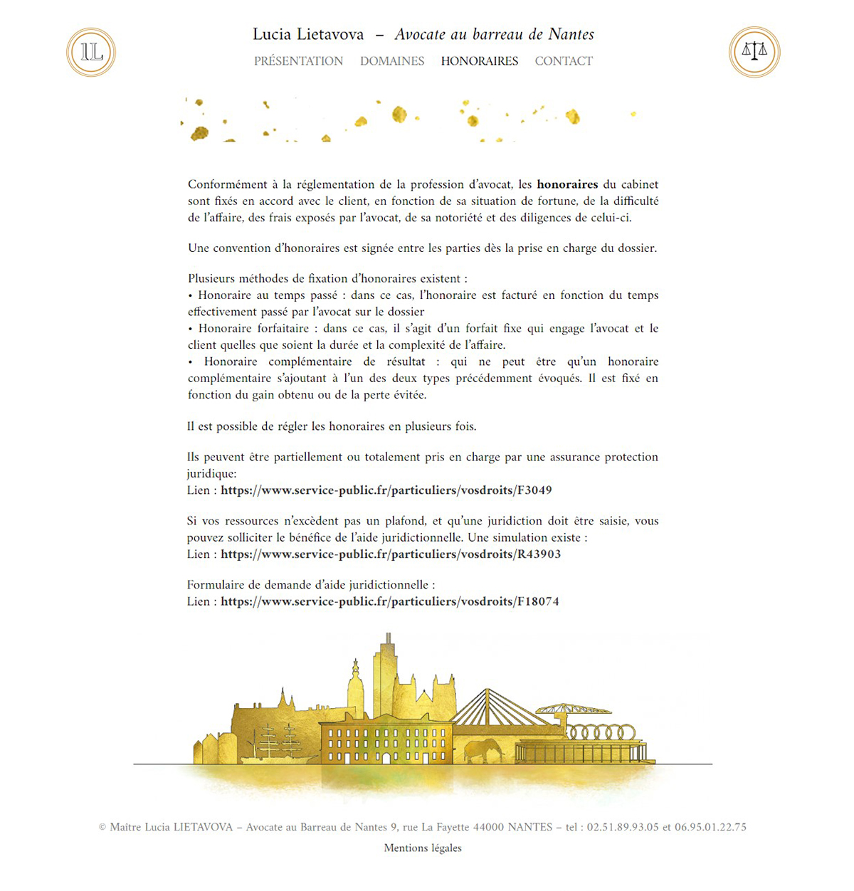 Page honoraires