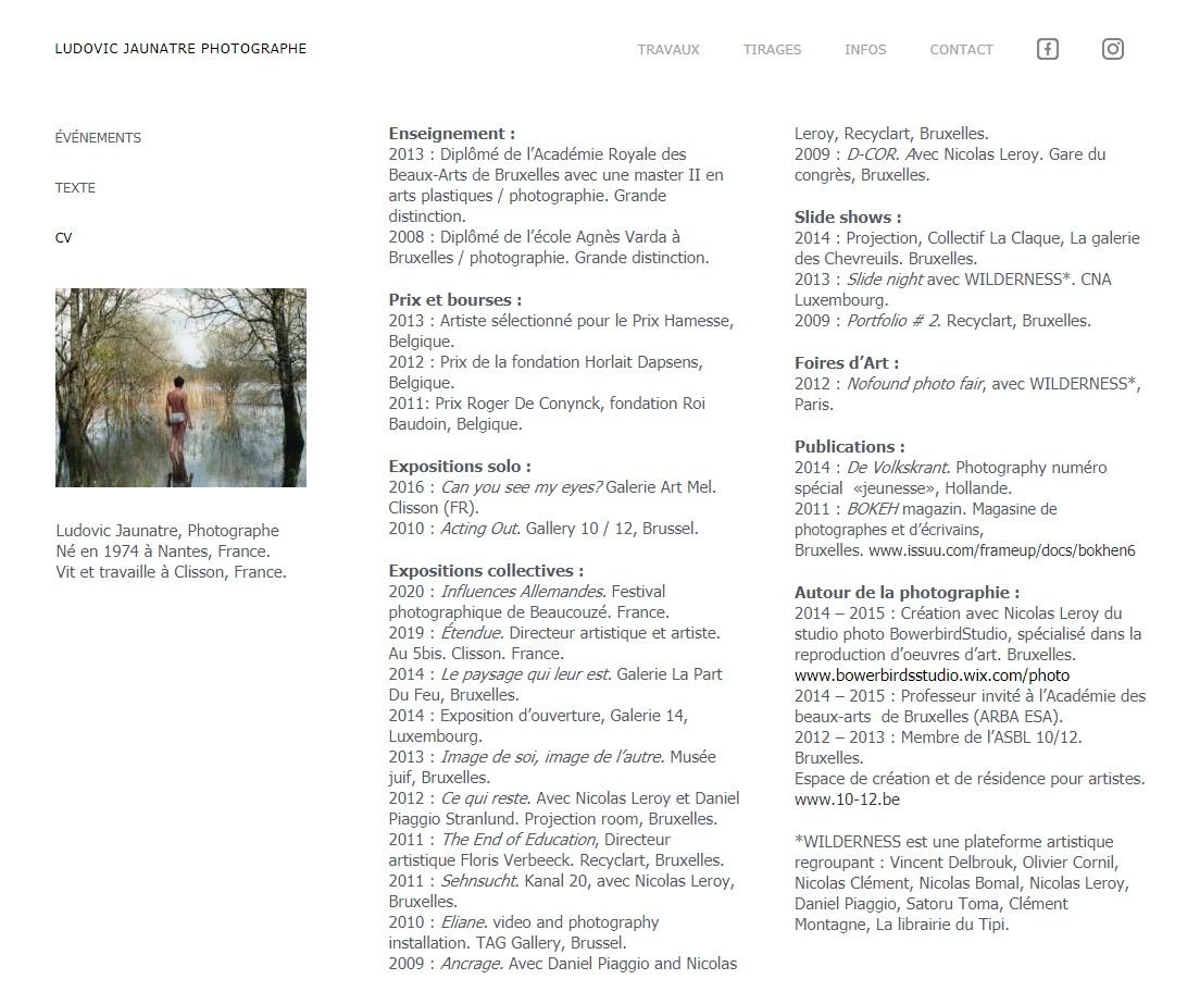 Page CV