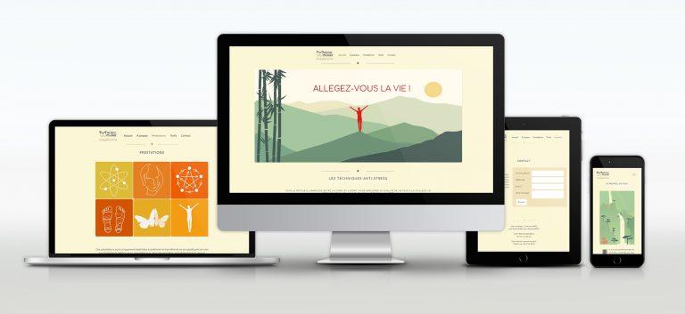Le site de Marina Muller, adapté à tous les formats d'écran