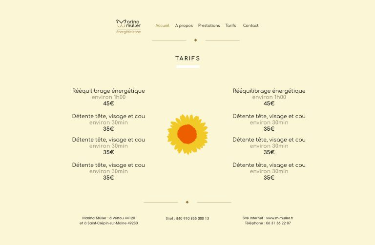 Page tarifs