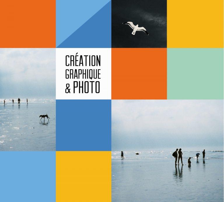 Comlposition graphique illustrant le thème de la création graphique et photo